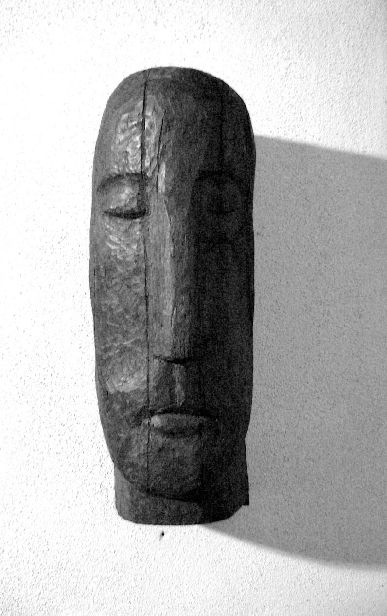 Pierre de Grauw // tête sculptée // bois